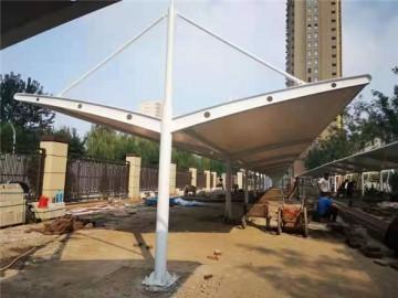 双开膜结构停车棚